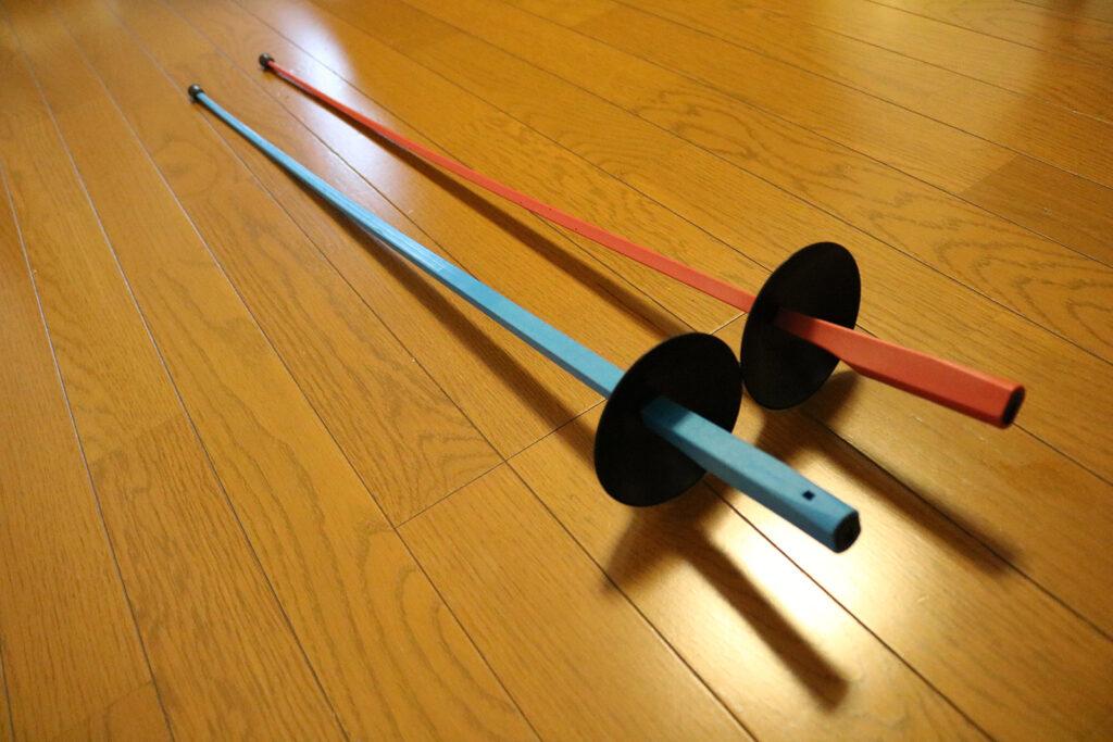 プラスチック剣 赤 青